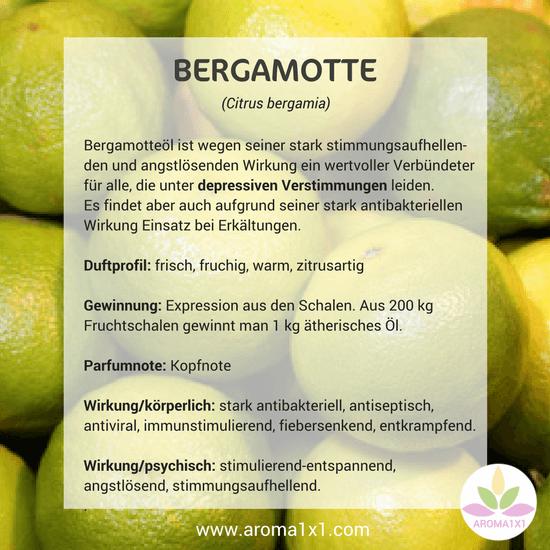 Bergamotteöl Wirkung Profil