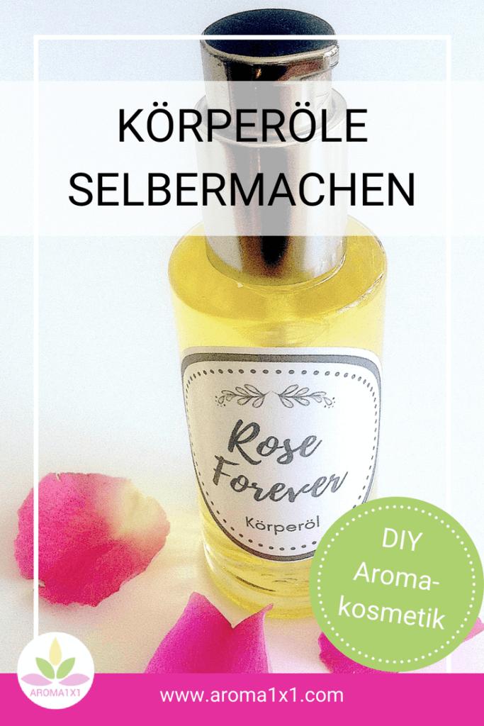 Rosen Körperöl selber machen
