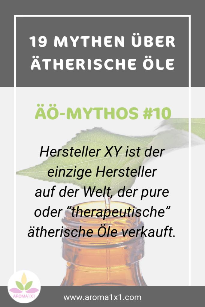 ätherische Öle therapeutische Qualität