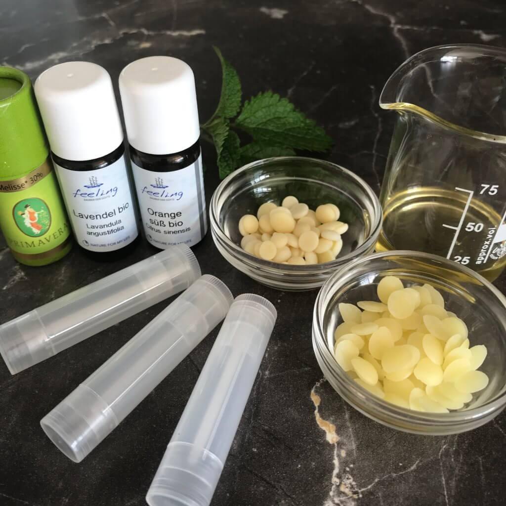 Lippenpflegestift gegen Fieberblasen Lippenpflegestift Zutaten