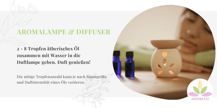 ätherische Öle Anwendung 1 Aromalampe Aromadiffuser