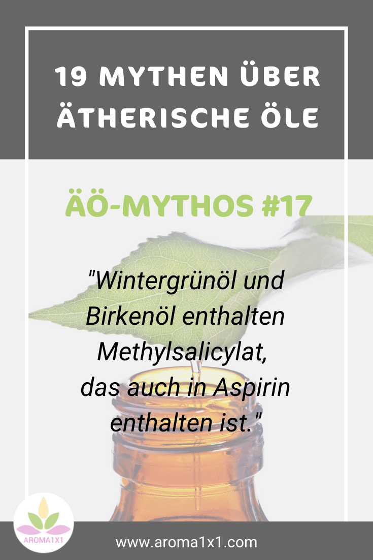 Wintergrünöl enthält den gleichen Inhaltsstoff wie Aspirin
